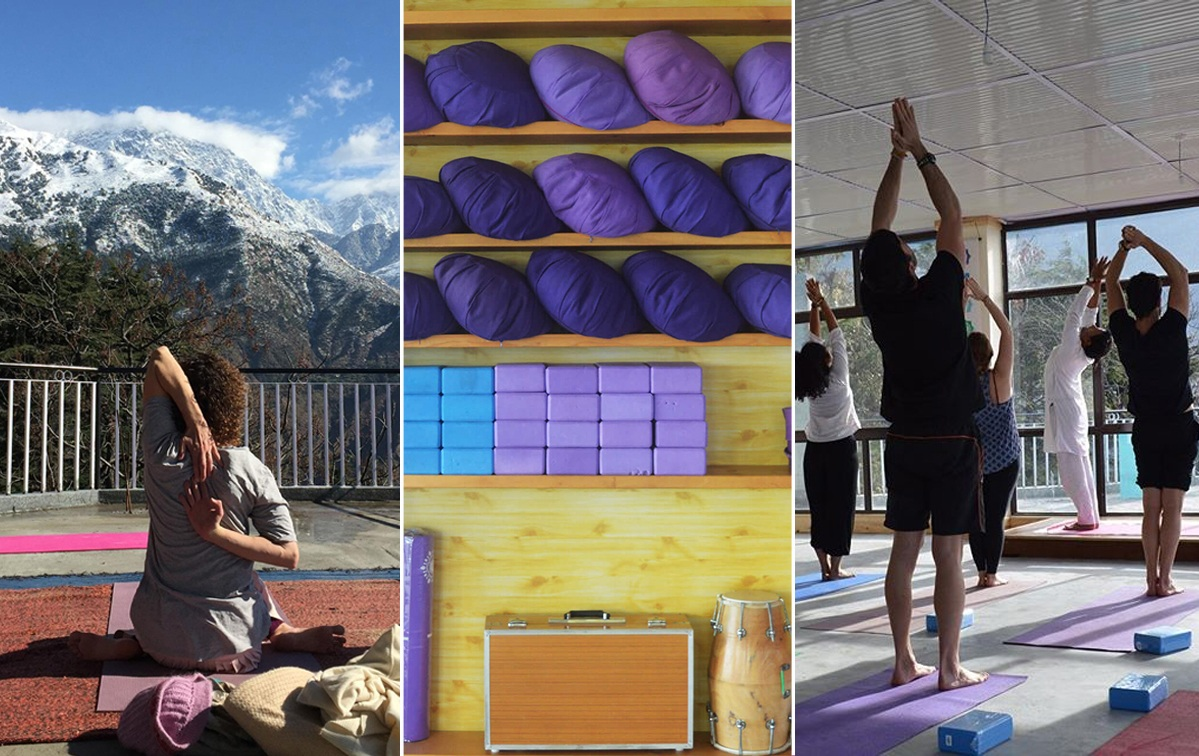 Daily yoga classes: at our rooftop studio with panoramic views of the mountains