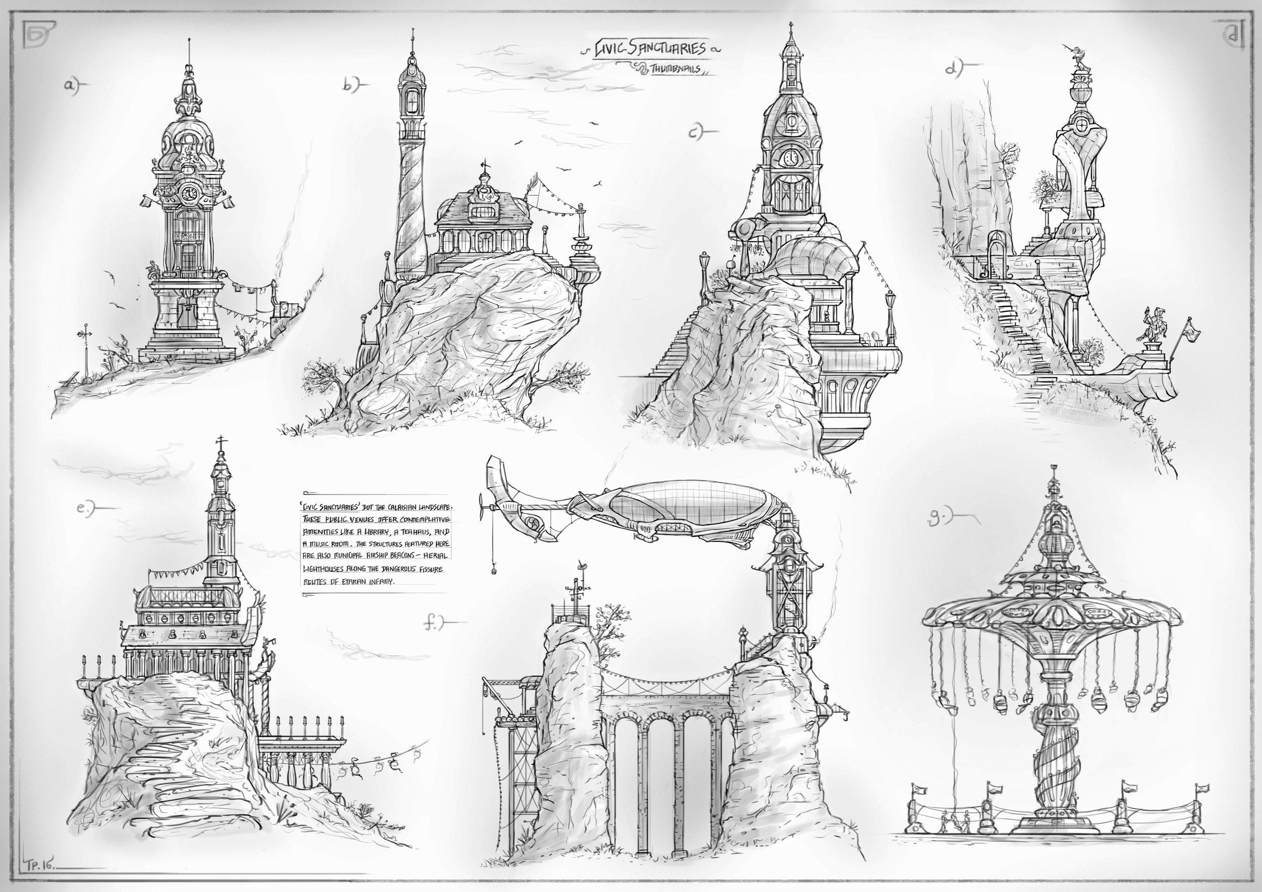 2D Thumbnails — Calaisian Civic Sanctuaries