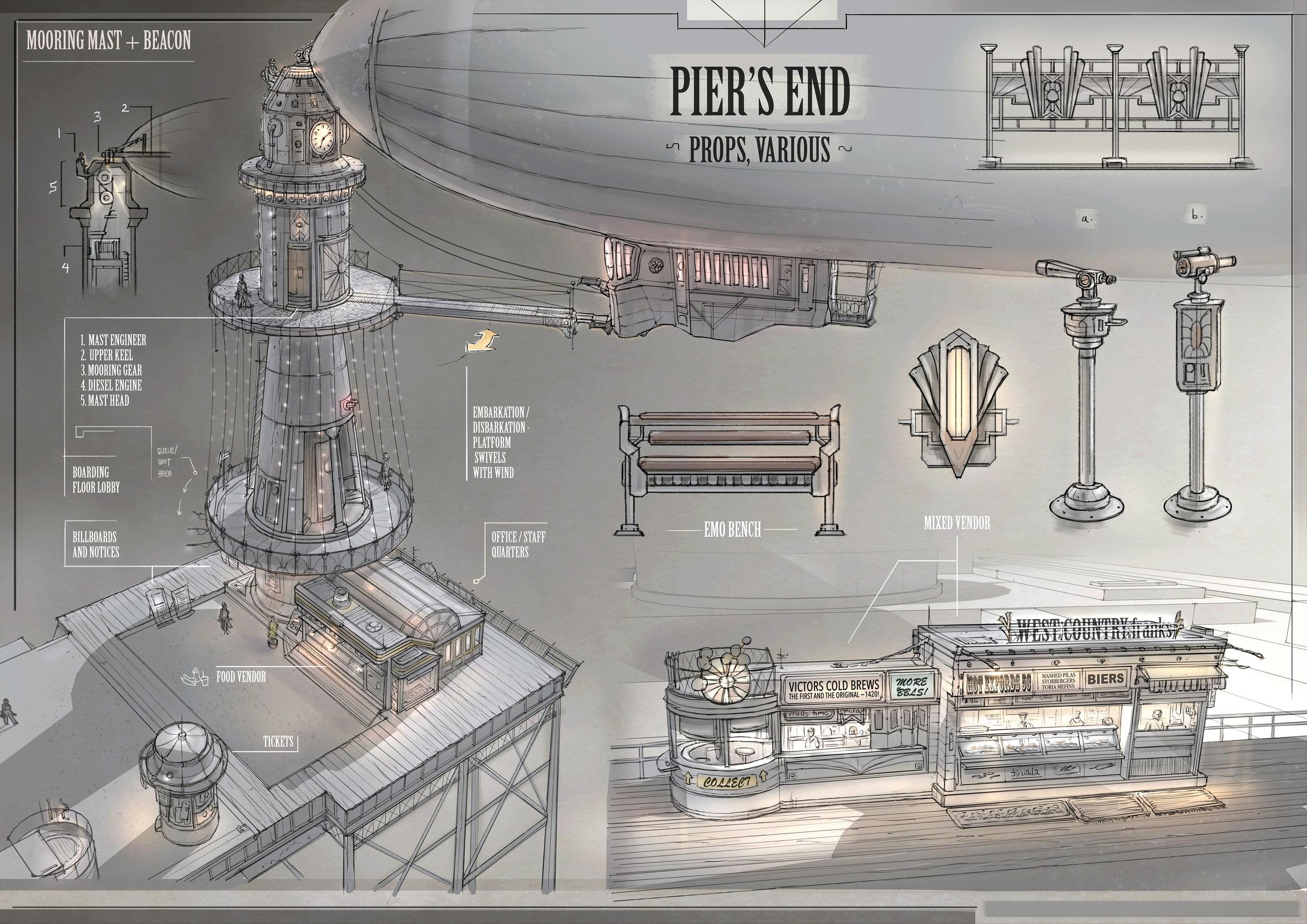Pier's End - various props