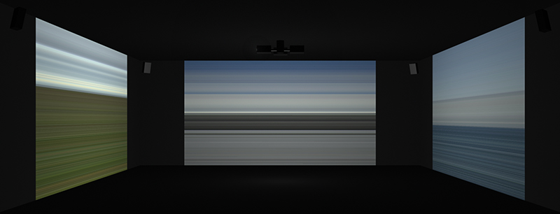 Wind, 2015, Three Channel Video Projection, 5.1 Sound