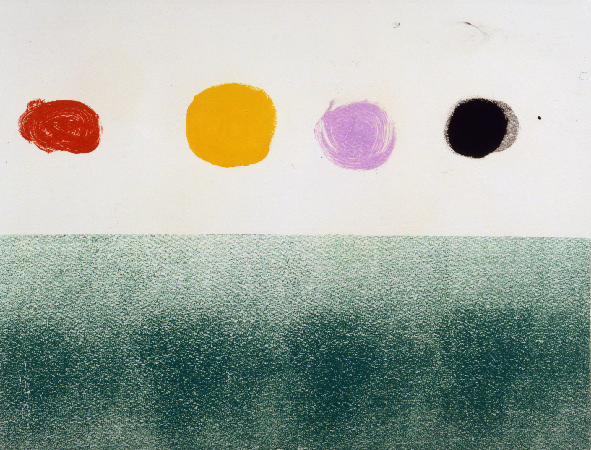<br><i>Untitled</i> <br> 1973<br>Monotype<br>23 x 31""