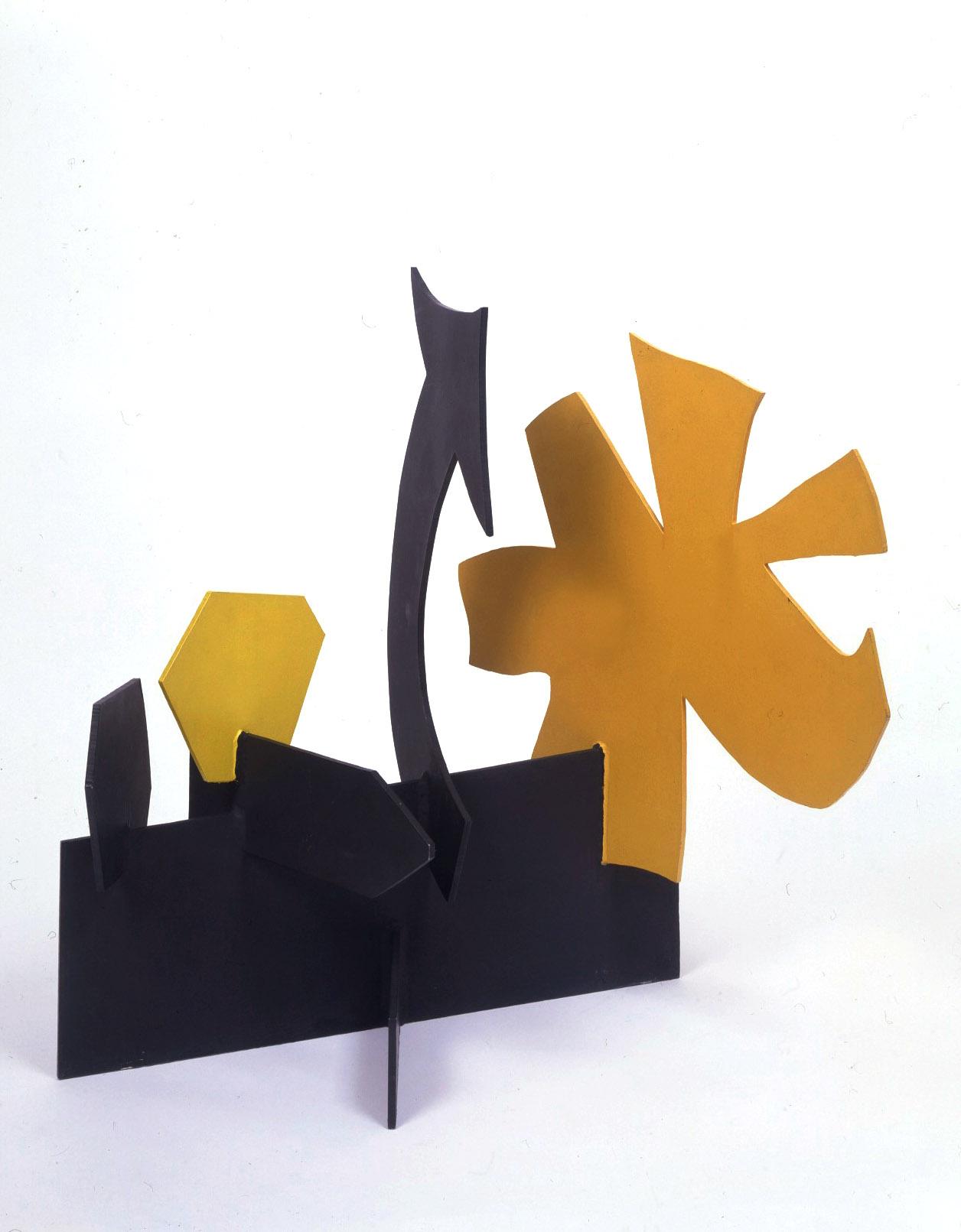 """<br><i>Petaloid with Curved Arrow</i> <br> 1968<br>Painted aluminium<br>28 x 25 x 20"""""""