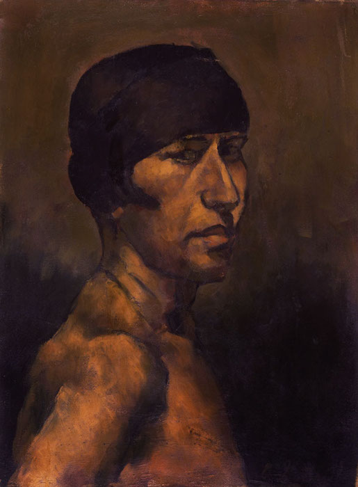 <br><i>Portrait</i> <br> 1921<br>Oil on canvas<br>23 x 17""