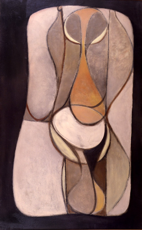 <br><i>Female Forms</i> <br> 1941<br>Oil on canvas<br>43 x 26""