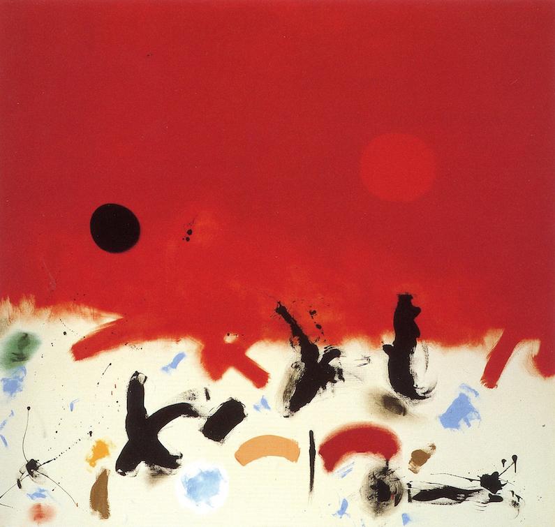 """<br><i>Primeval</i> <br> 1962<br>Oil on canvas<br>84 x 89"""""""