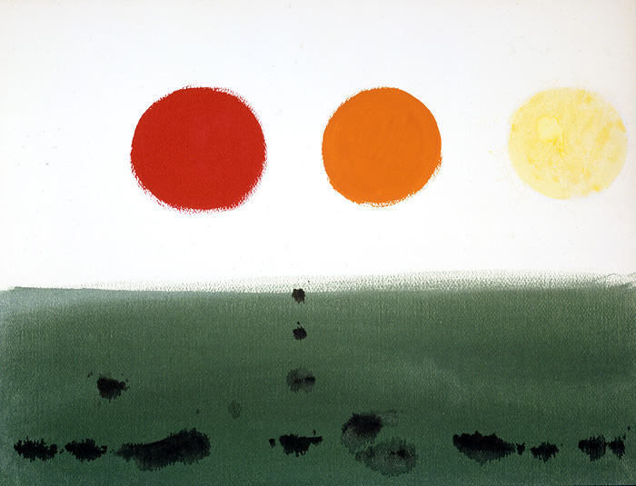 <br><i>Untitled</i> <br> 1966<br>Acrylic and gouache on paper<br>20 x 26""