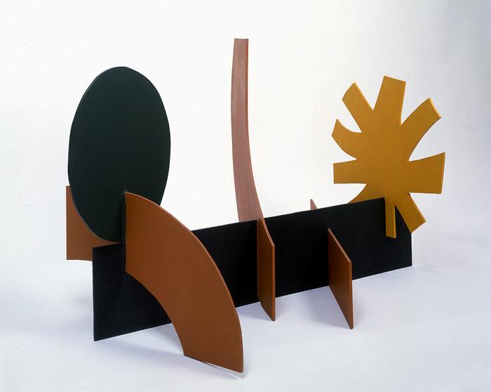 "<br><i>Two Arcs</i> <br> 1968<br>Painted aluminium<br>26 x 37 x 24"""