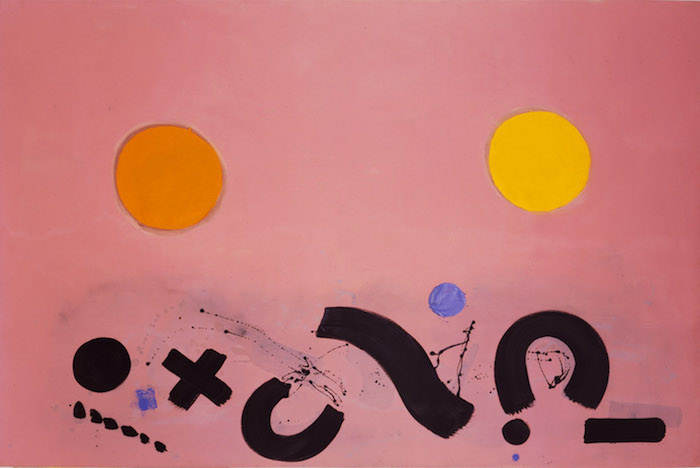 <br><i>Notations</i> <br> 1966<br>Oil on canvas<br>60 x 90""