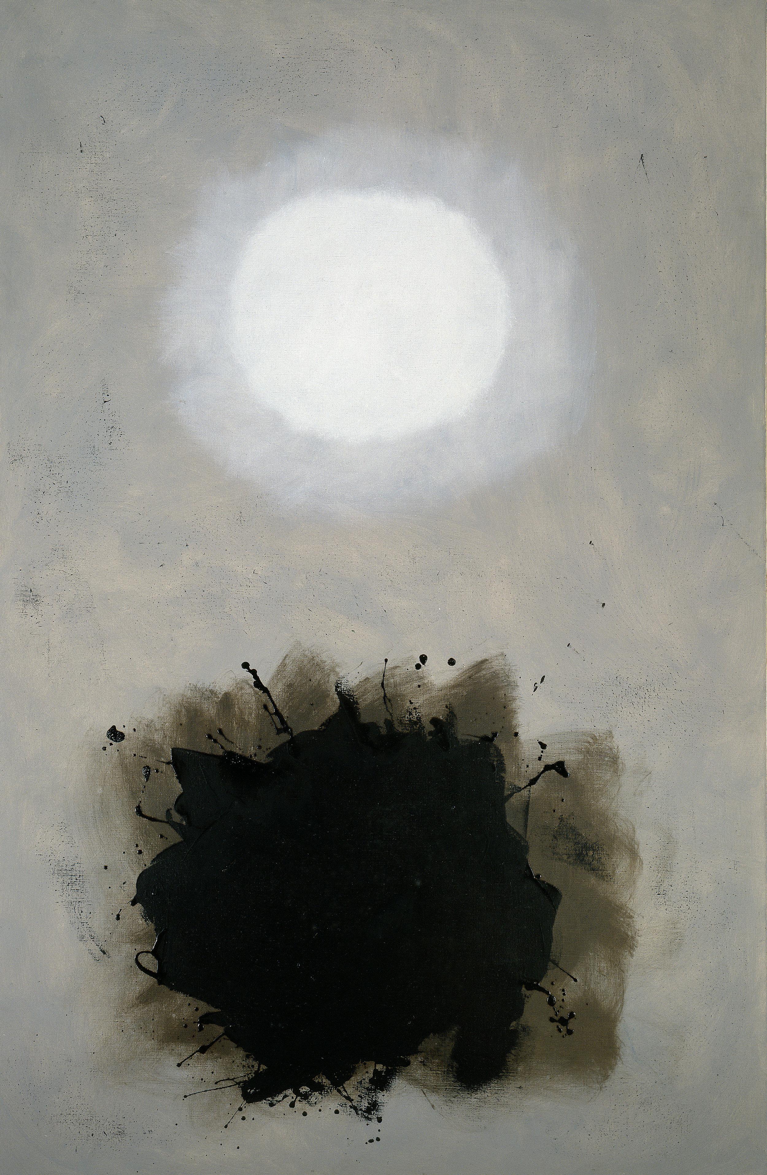"<br><i>Mist</i><br>1961<br>Oil on canvas<br>71 x 48"""