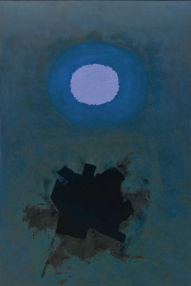 "<br><i>Orb</i><br>1964<br>Oil on canvas<br>90 x 60"""