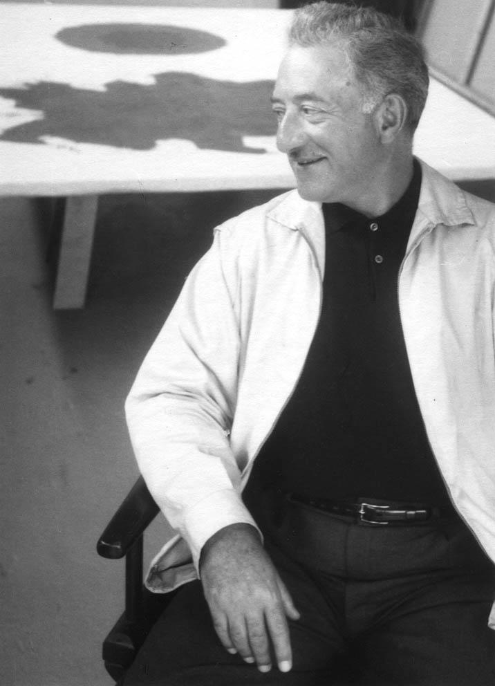 Adolph Gottlieb in his New York City studio, 1958