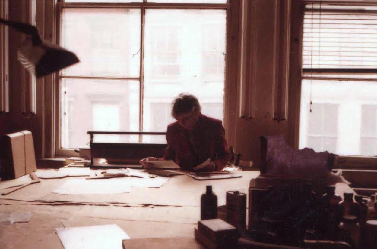Esther Gottlieb at the Adolph and Esther Gottlieb Foundation, New York, NY c. 1980