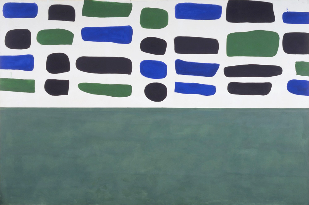 """Shown: UNITS #3, 1965, oil on canvas, 96 x 144 """""""