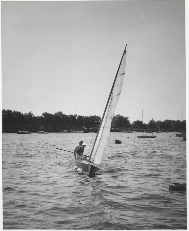 Adolph and Esther sailing in Provincetown, MA, 1950s. Photo by Mike Zwerling