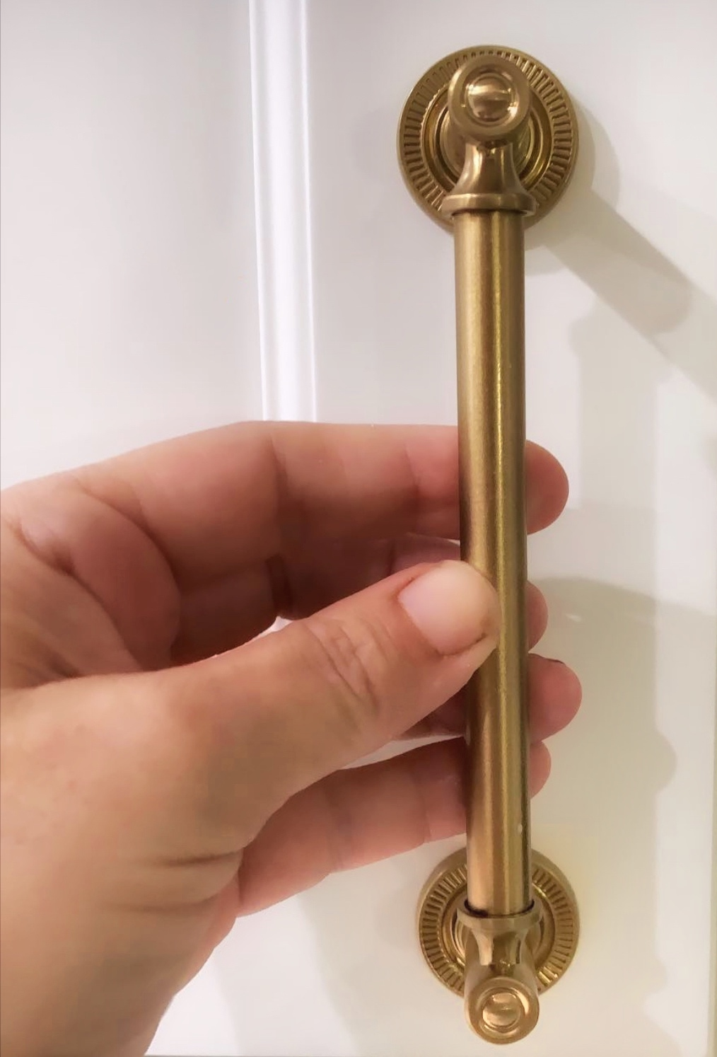 5 inch pulls in Champagne Brass from ALL MODERN