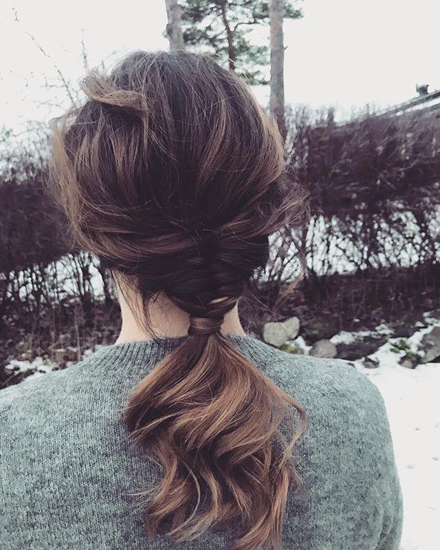 God morgon torsdag! ✨☕️💋 . . . . #salongnoc#nettiepånoc#nettieatnoc#luntmakargatan56#frisörstockholm#frisör#ponytail#fishtailpony#uppsatt#fiskbensfläta#braidedpony##pony#styling#schwarzkopfprosverige#hairoftheday#hairstyle#hairstyleconfessions#