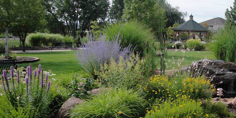Serene and safe gardens at  T  he Gardens at Columbine