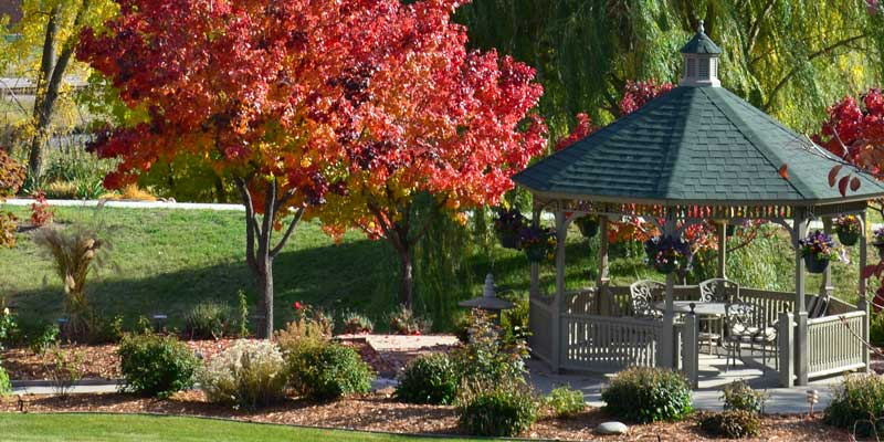 Abundant outdoor spaces offer a safe nurturing environment at  T  he Gardens at Columbine