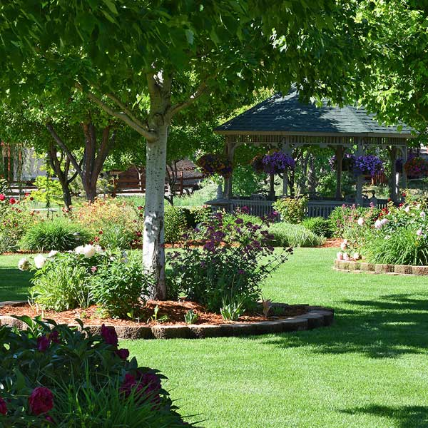 A warm and hospitable environment with abundant outdoor spaces at  T  he Gardens at Columbine