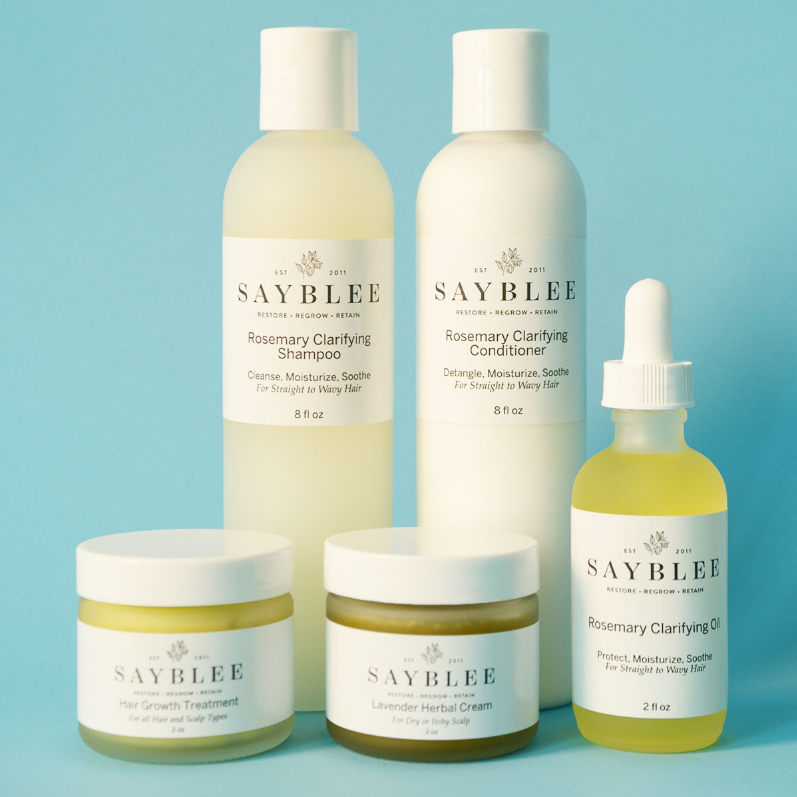 Sayblee - saybleeproducts.com/Treat yourself and your friends. Sayblee is a complete system of organic, handmade hair care that might just make your shower feel like a mini holiday from the holidays.