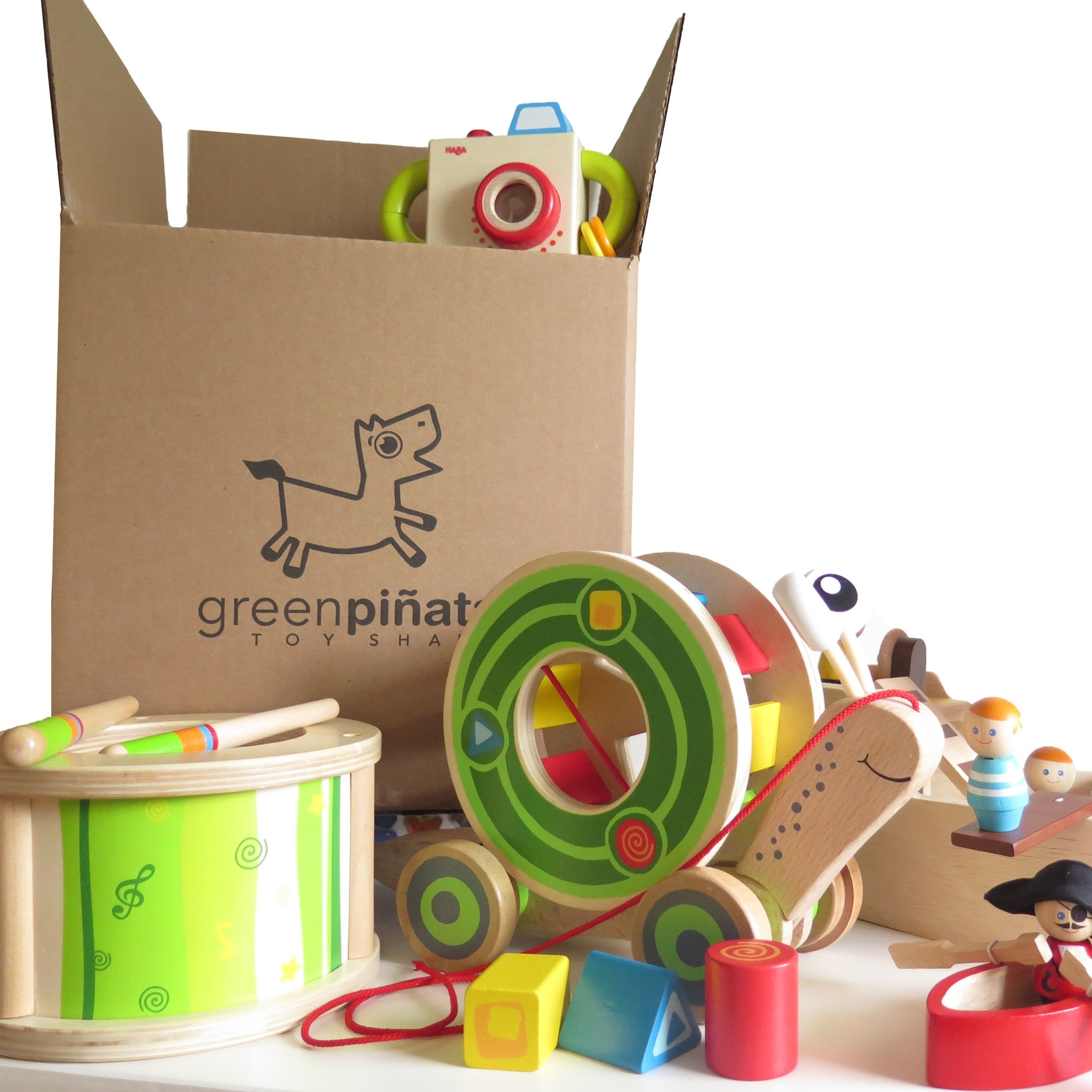 Green Pinata Toys - greenpinatatoys.comThe gift that keeps on giving, every single month. Green Pinata Toys brings safe, educational toys right to your door while picking up the old ones. (Babson M'11)