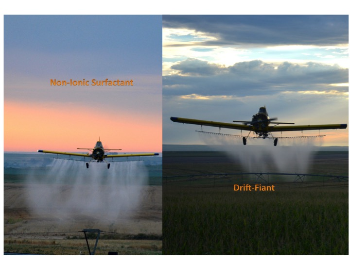 """At AgraSyst we have a saying """"It ain't so until it is so outside"""". Drift-Faint is one of those products that the best test is watching the spray pattern in side by side applications with Drift-Fiant and without Drift-Fiant."""