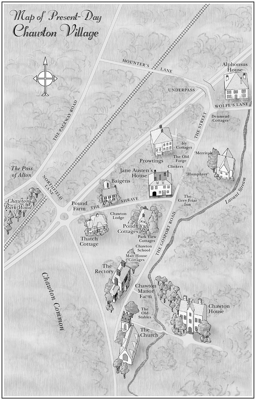 For   Jane and His Lordship's Legacy, by Stephanie Barron   (Bantam, 2005). Map copyright © Stephanie Barron.