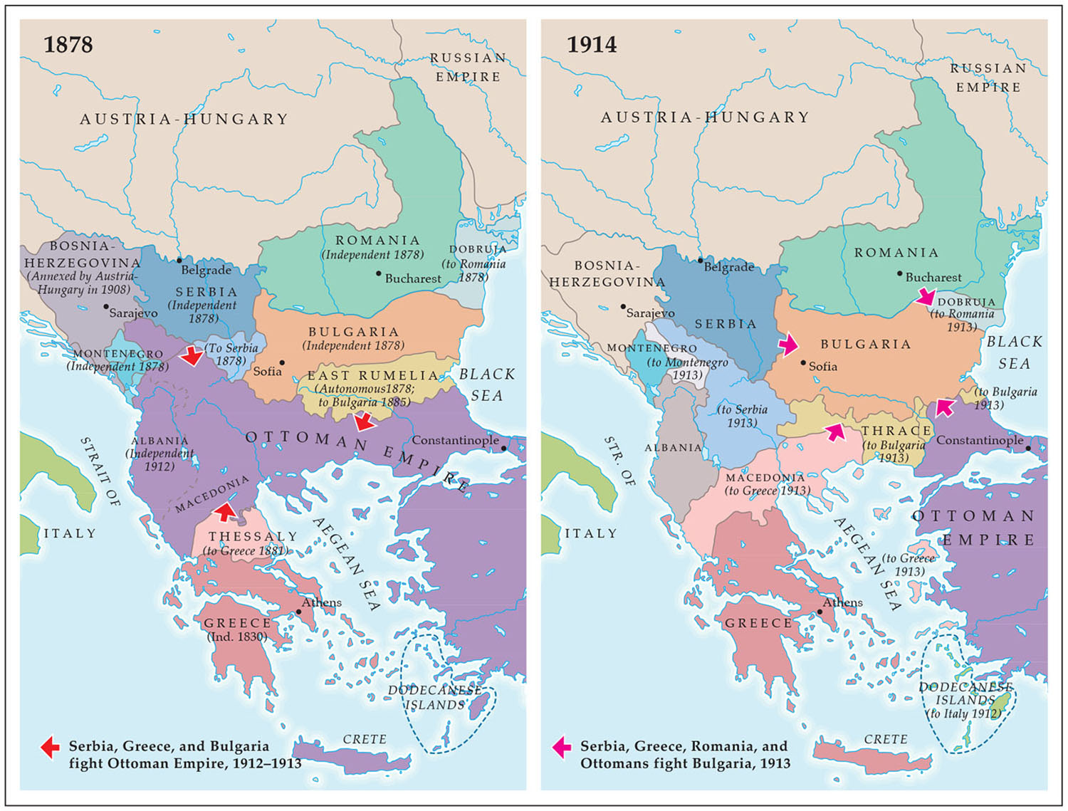 The Balkans, 1878–1914 , from    The Western Experience,  by Chambers, et al.   Copyright © McGraw Hill, 1994 & 1999.