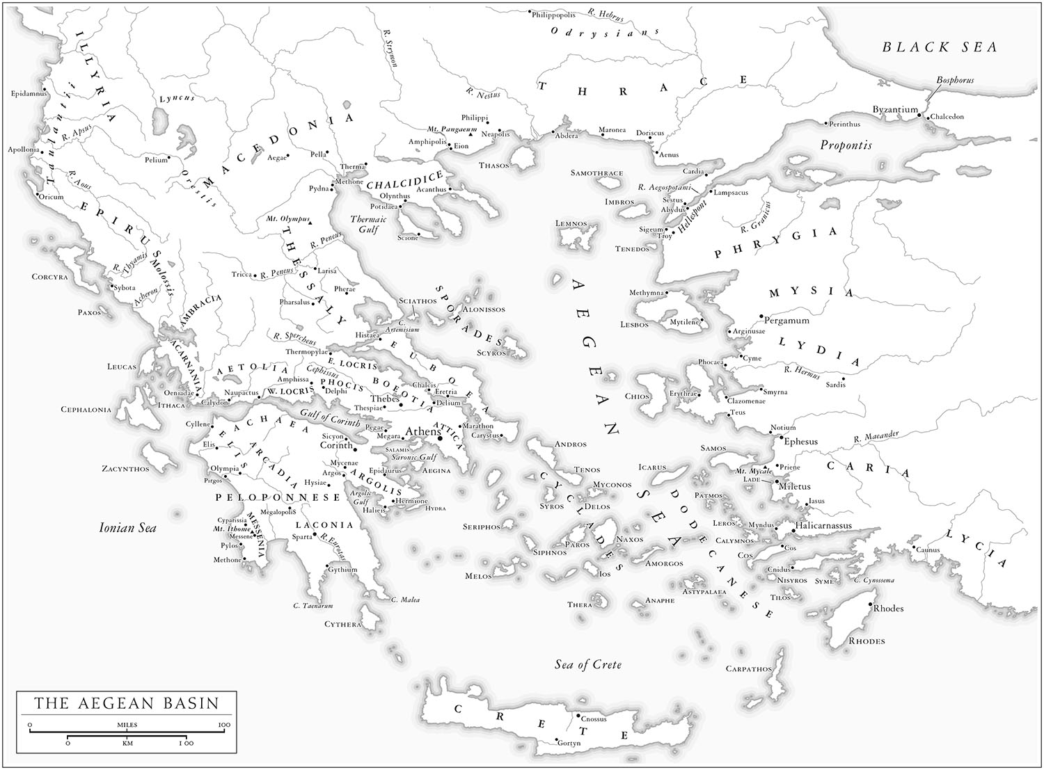 Six maps for    The Rise of Athens, by Anthony Everitt   (Random House, 2016). Map copyright © David Lindroth Inc.