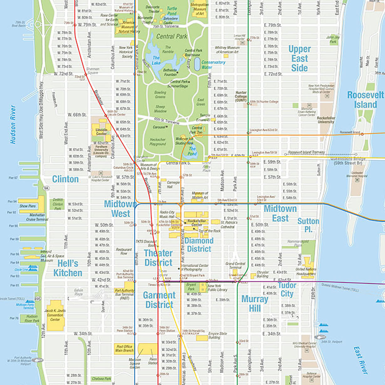 Click image to view a portfolio of maps created for the NYCVB and other travel-related projects.  Map copyright © David Lindroth Inc.