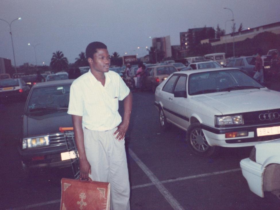 Wisdom's father in Togo.