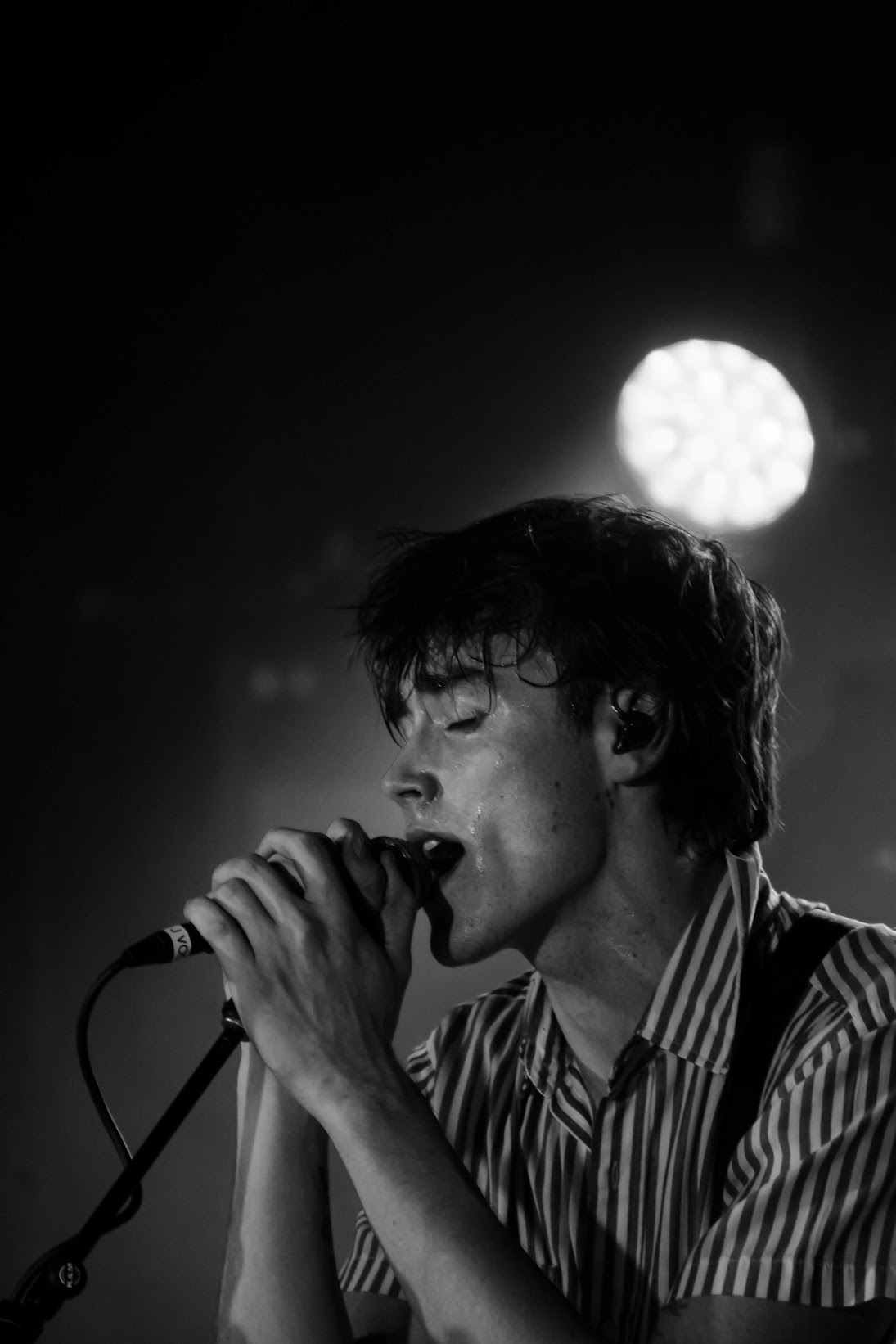Hippo Campus's lead singer, Jake Luppen, serenading the audience. Photo by Kaitlyn Kuker