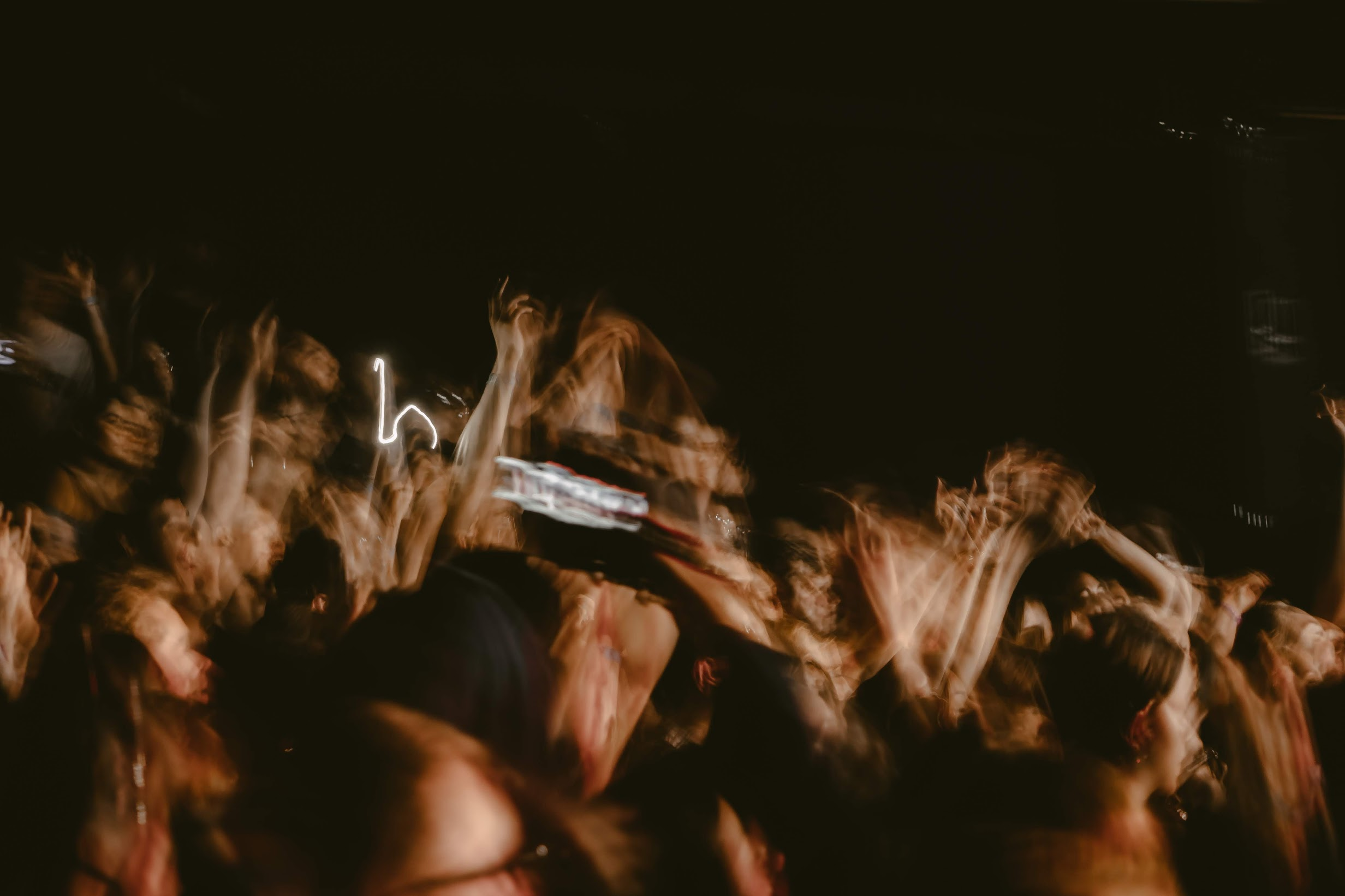 The frenzied crowd electrified by Hippo Campus's performance.  Photo by Kaitlyn Kuker.