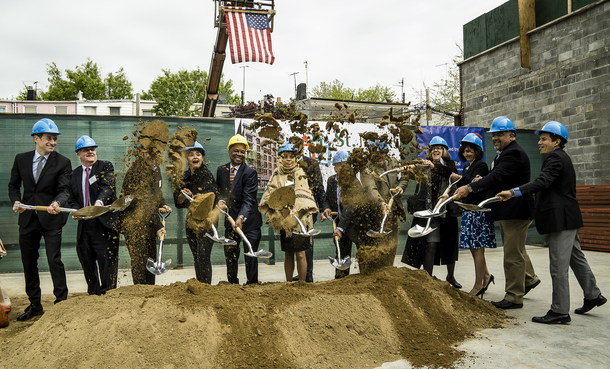 St. Nicks Alliance breaks ground for a new affordable complex at 695 Grand Street.