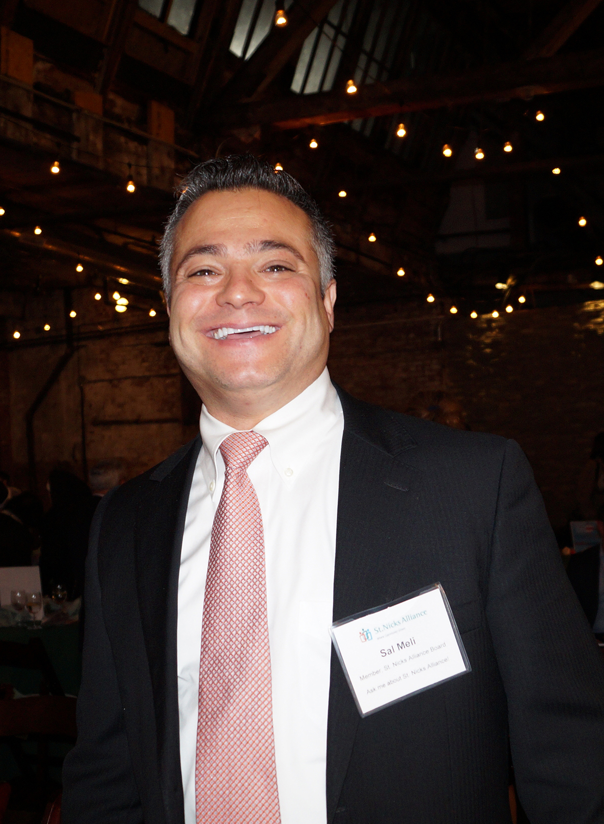 Sal Meli is a cheerful force whose focus is affordable housing as a St. Nicks Alliance Board member