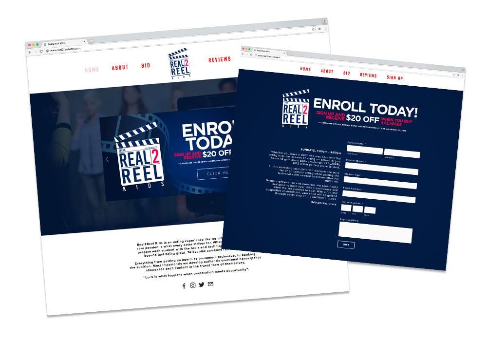Real2Reel Kids Website