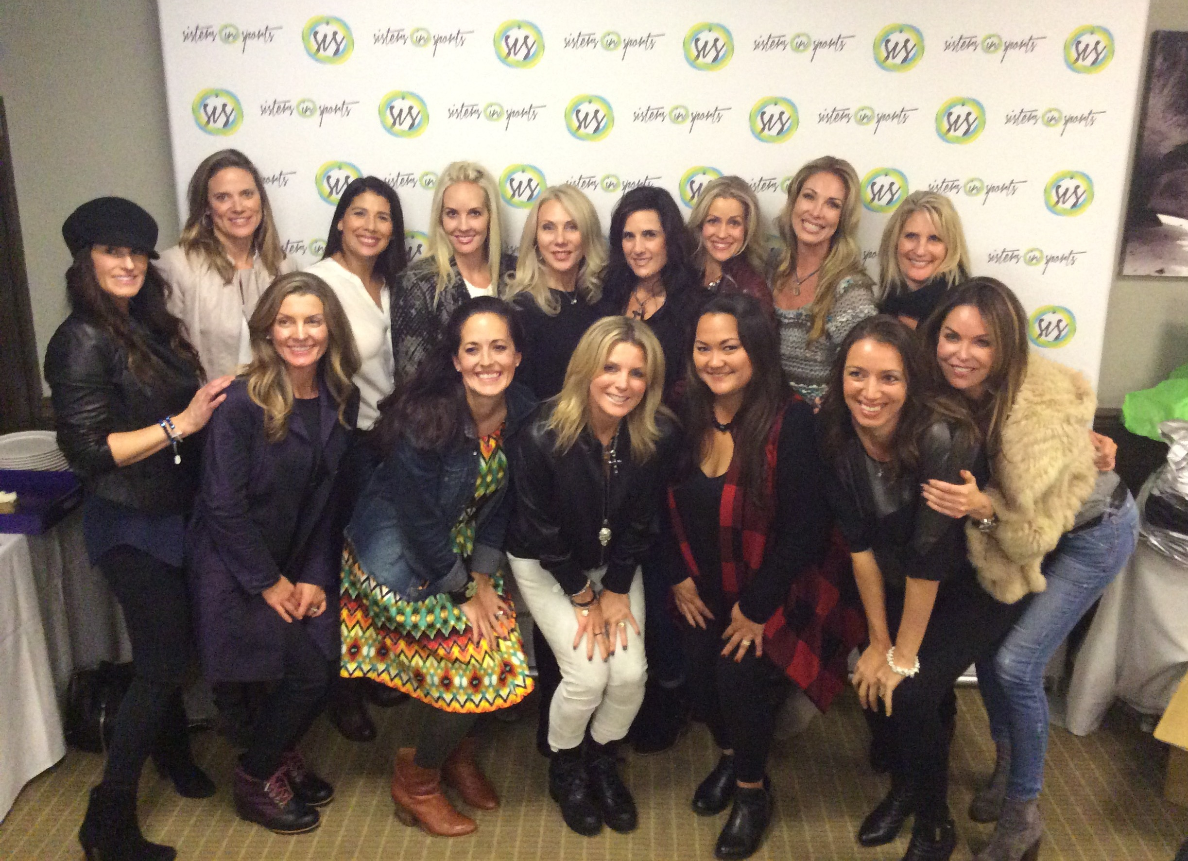 Moyer and ladies at Sisters in Sports event