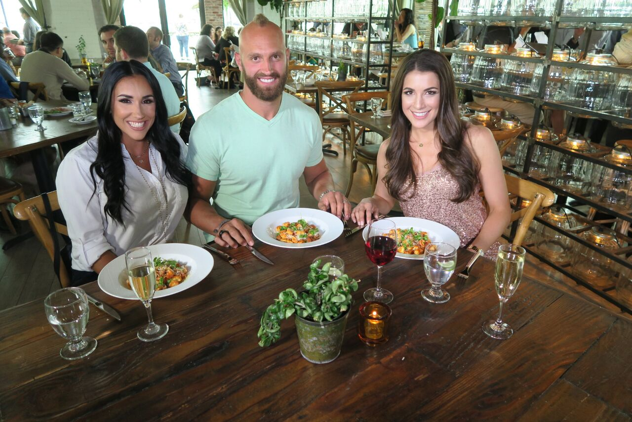 Jackie with New York Giants player Mark Herzlich and Danielle Herzlich (previously featured on our site)