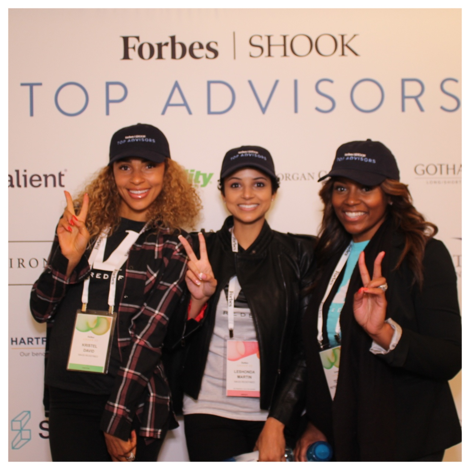 At the Forbes Under 30 Conference with other girlbosses
