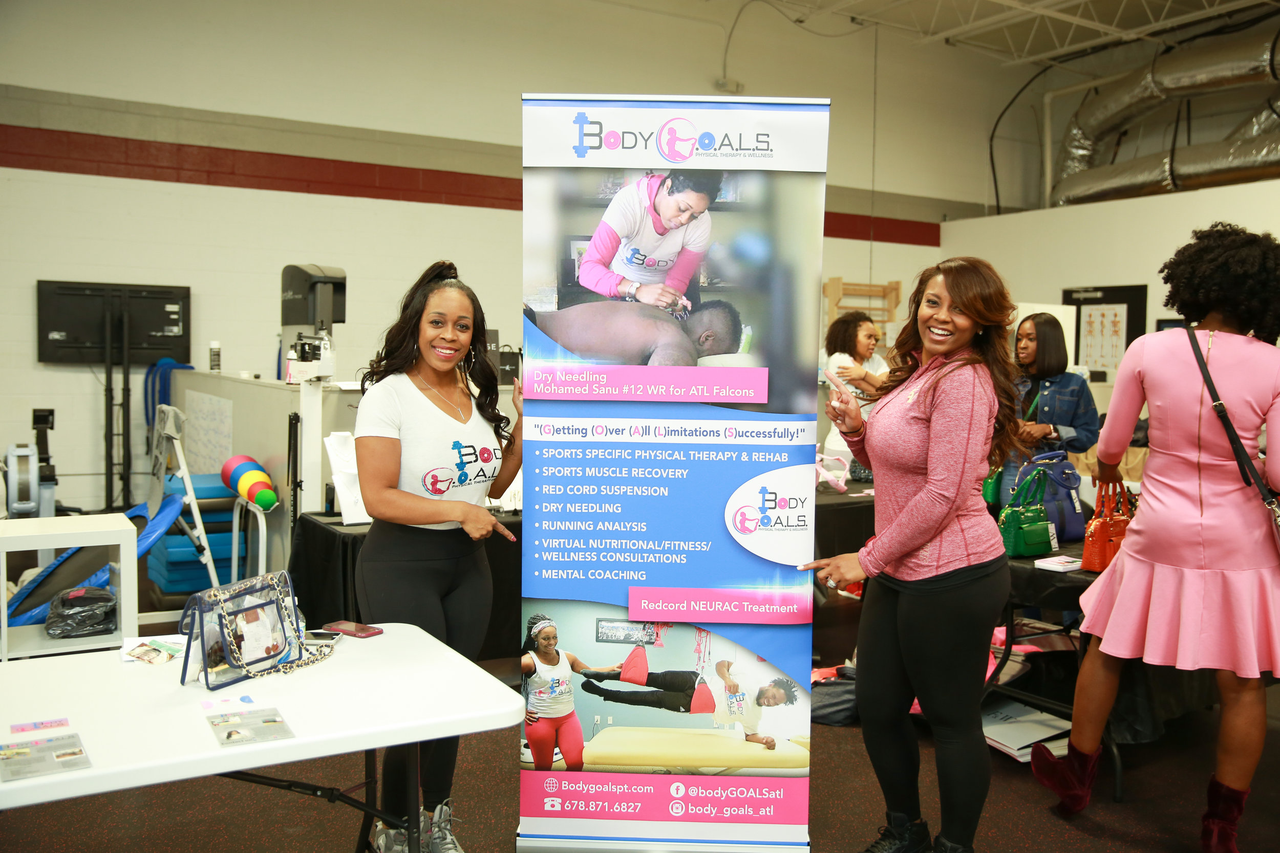 Quiana Fluellen, owner of BODY G.O.A.L.S, and Tenisha Patterson-Brown of Definitive Sports Group