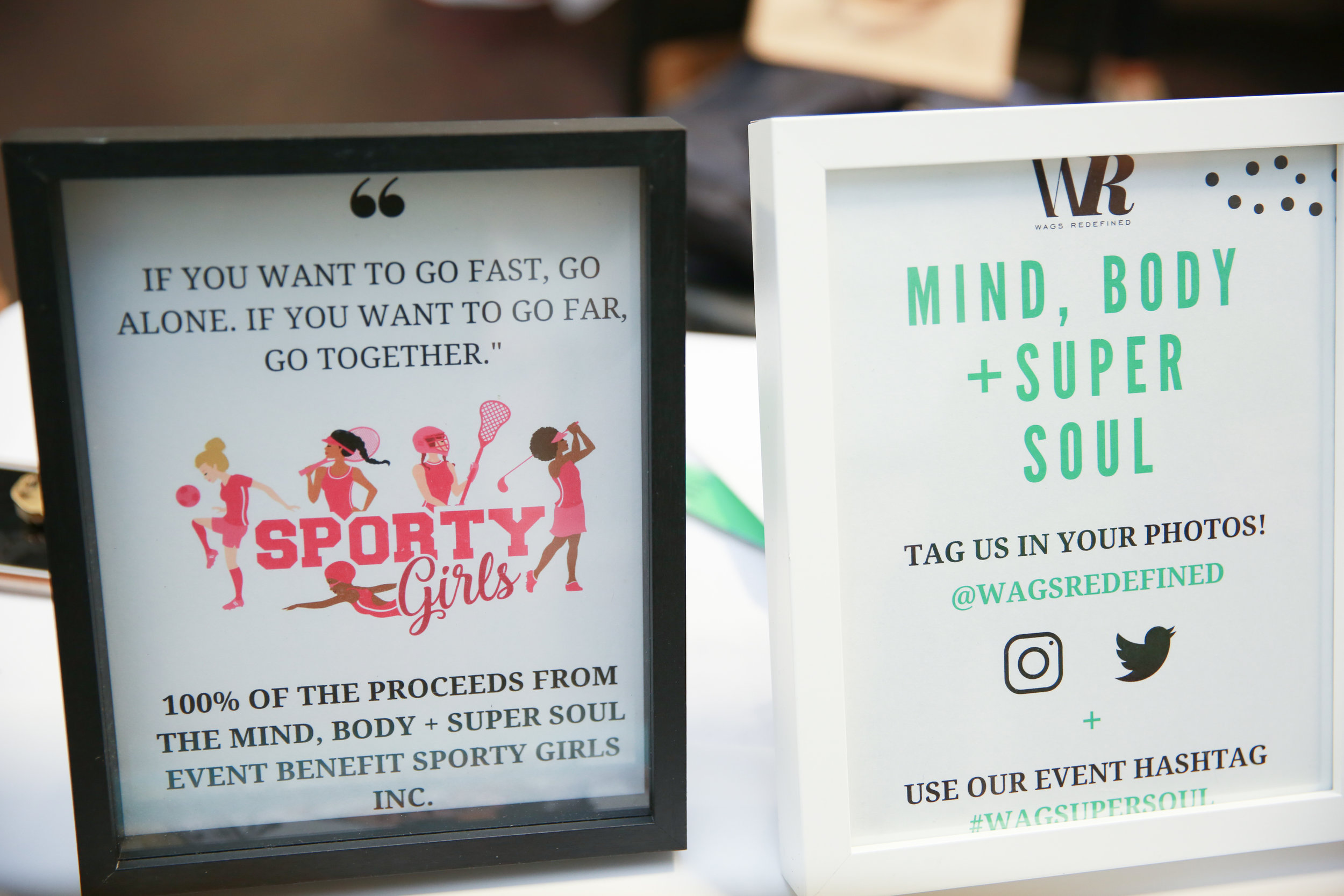 WAGS Redefined Mind, Body + Super Soul Event gives back to Sporty Girls, Inc.