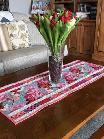 Simply Simple Table Runner Double Fault Floral