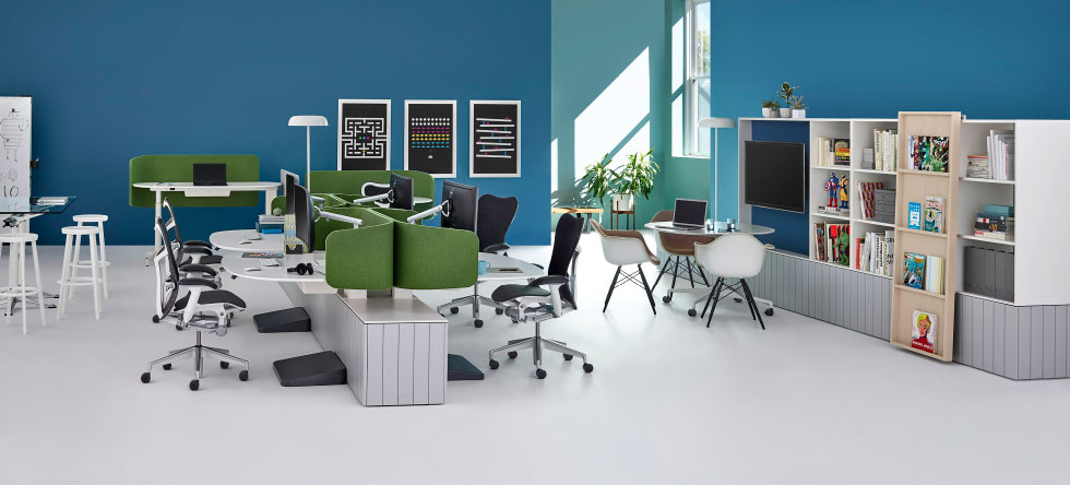 """Collaborative Clubhouses    Making space (literally) for team creativity and improvisation     Image by  Herman Miller  via  """"The Vital Link Between Improvisation and Innovation."""""""