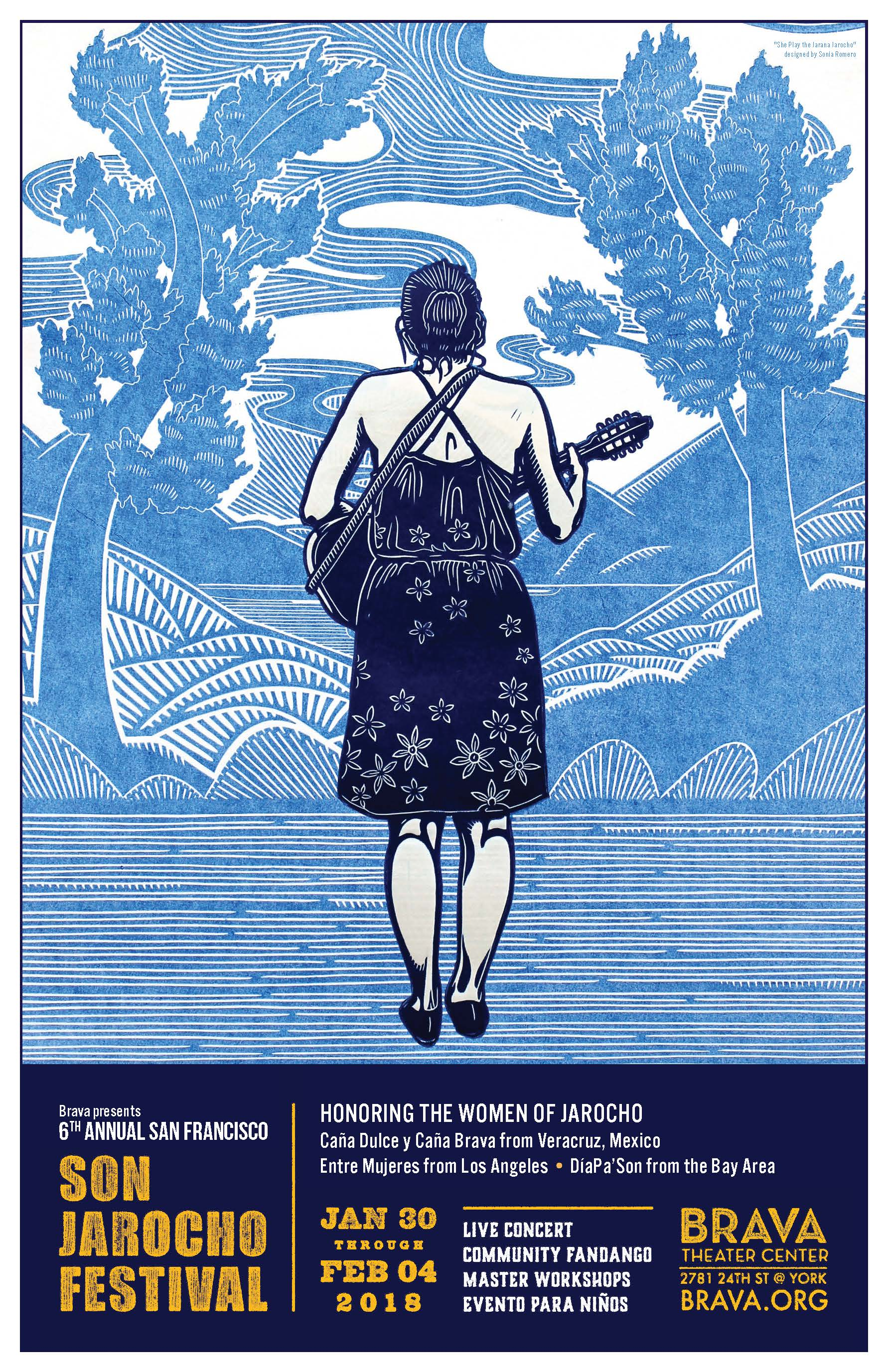 """She Play the Jarana Jarocho"" by  Sonia Romero ."