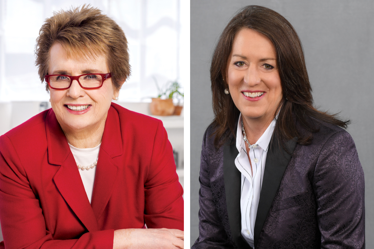 Sports icon and social justice pioneer Billie Jean King and NCLR Executive Director Kate Kendell.