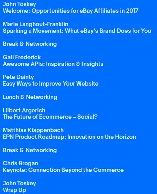 2017 Topics & Speakers -