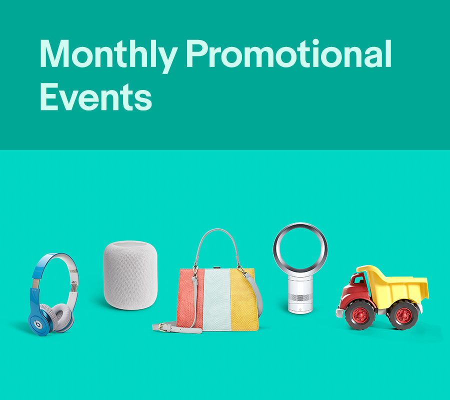 eBay Monthly Promotional Events