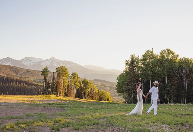 When your friends elope on a Monday and ask you to meet them on top of the mountain at sunset! 🏔💛🌲 #mountainelopement #telluridewedding #telluridecolorado #elopementphotographer #elopementwedding #radwedmag #dirtybootsandmessyhair #tellurideweddingphotographer #coloradoweddingphotographer #coloradoelopementphotographer #mountainwedding #mountainweddingphotographer #telluride #rockymountainbride
