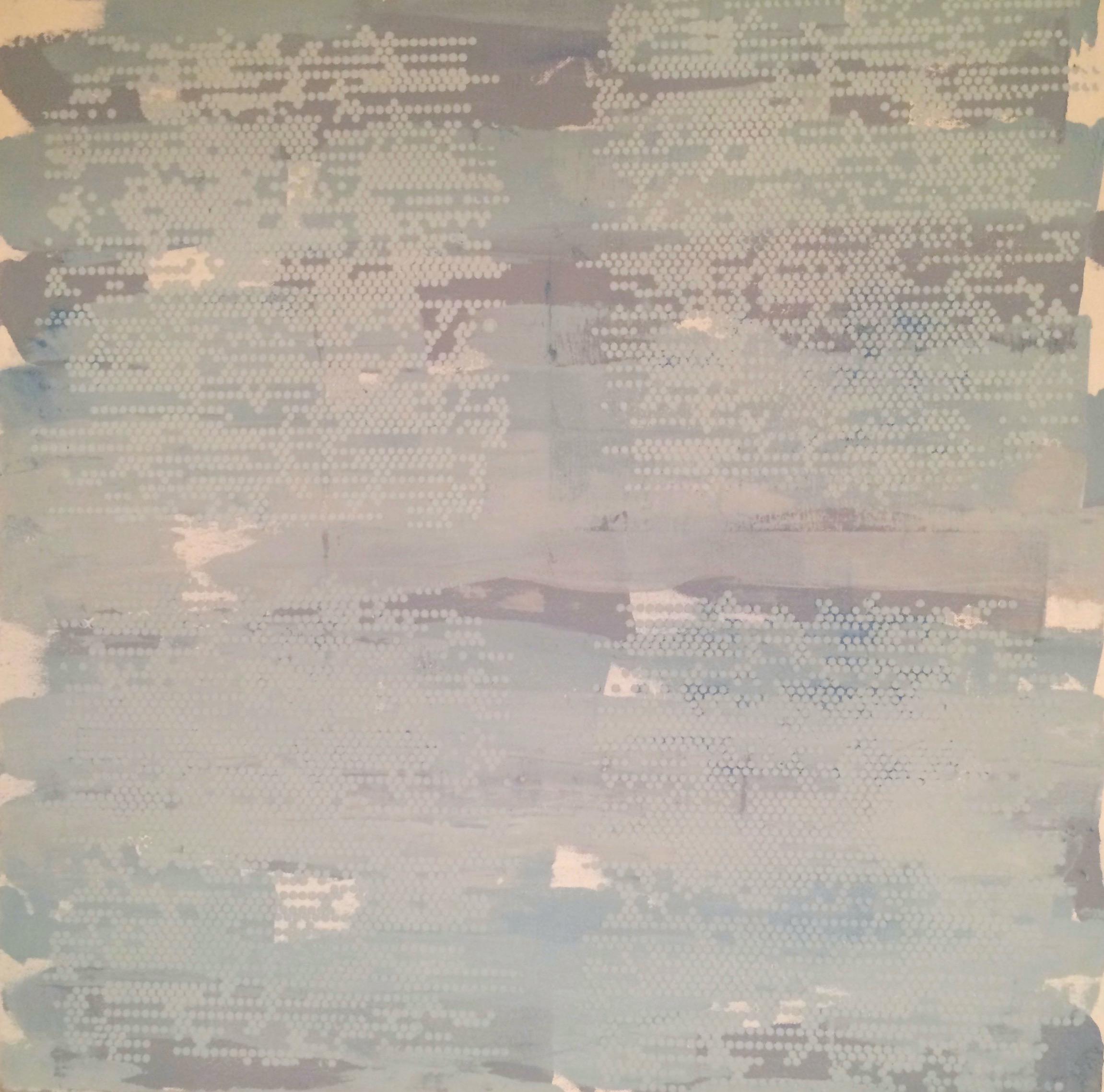 "Blue Lines Dot Matrix, 24"" x 24"", 2015"