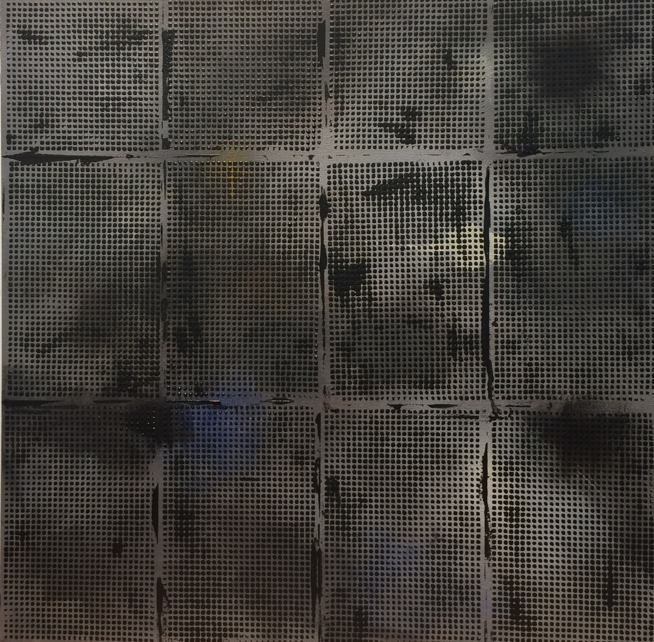 "Black Grid, 2016, 24"" x 24"""